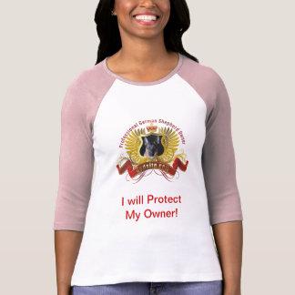 "Pastor alemán ""protegeré a mi dueño "" camisas"