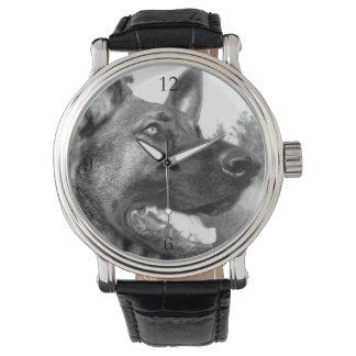 Pastor alemán relojes de mano