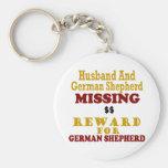 Pastor alemán y recompensa que falta del marido po llaveros