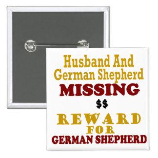 Pastor alemán y recompensa que falta del marido po pins