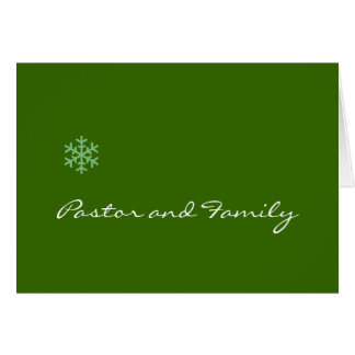 Pastor and Family Snowflake Card