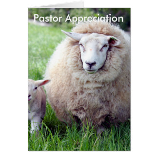Pastor Appreciation Card