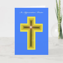 Pastor Appreciation Card -- Cross
