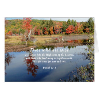 Pastor Appreciation Fall Nature Scripture Card