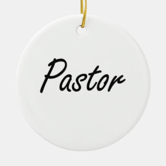 Pastor Artistic Job Design Ceramic Ornament