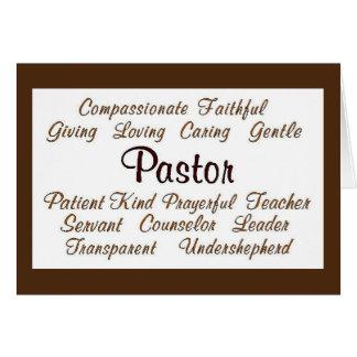 Pastor Attributes Card