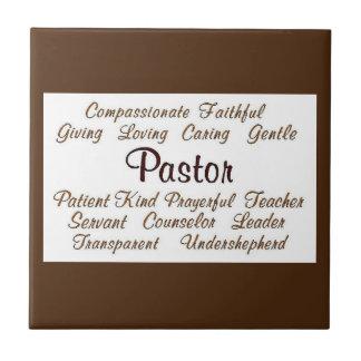 Pastor Attributes Ceramic Tile