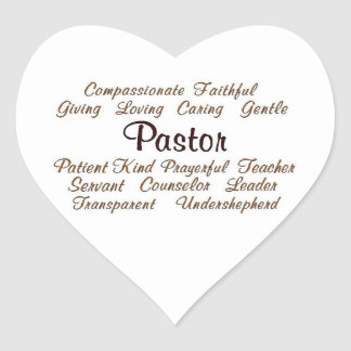 Pastor Attributes Heart Sticker