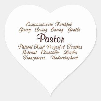 Pastor Attributes Heart Sticker