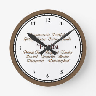 Pastor Attributes Round Clock