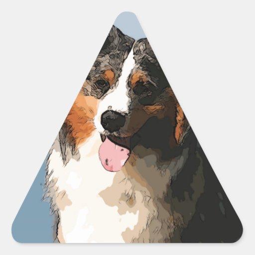 Pastor australiano 2 colcomanias trianguladas personalizadas