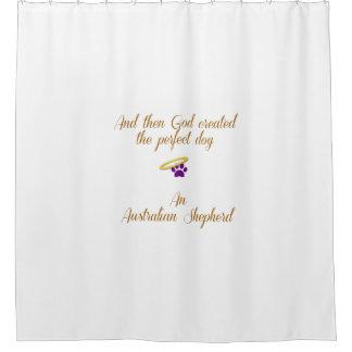 Pastor australiano cortina de baño