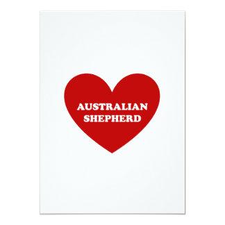 """Pastor australiano invitación 5"""" x 7"""""""