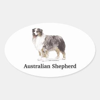 Pastor australiano calcomania de óval