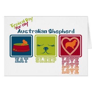 Pastor australiano tarjeta pequeña
