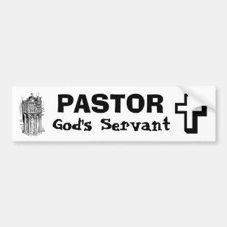 Pastor Pegatina De Parachoque