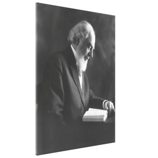 Pastor Charles Taze Russell Reading Bible Canvas Print