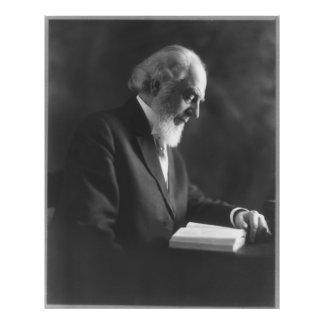 Pastor Charles Taze Russell Reading Bible Poster
