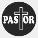 Pastor Classic Round Sticker