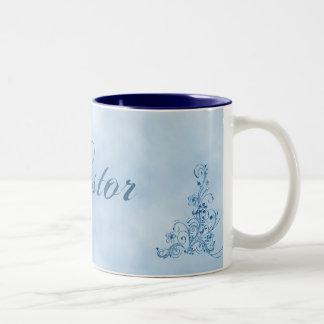 Pastor Coffee Mug- Large: Sky Blue Elegance