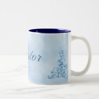Pastor Coffee Mug- Large: Sky Blue Elegance Two-Tone Coffee Mug