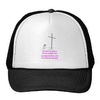 pastor de la juventud gorras