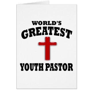Pastor de la juventud tarjeta de felicitación