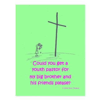 pastor de la juventud tarjeta postal