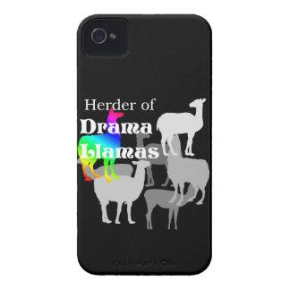 Pastor de la llama del drama iPhone 4 protectores
