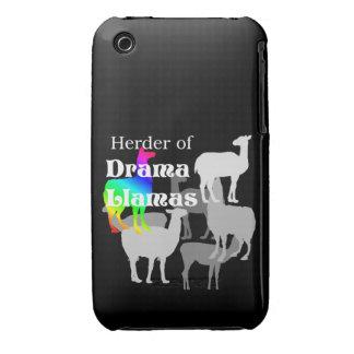 Pastor de la llama del drama Case-Mate iPhone 3 cárcasas