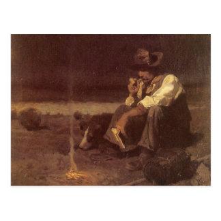 Pastor de los llanos por NC Wyeth, vaqueros Tarjetas Postales