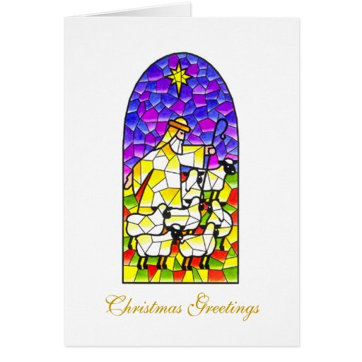 Pastor de los saludos del navidad tarjeta de felicitación