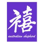 Pastor del australiano de la felicidad postal