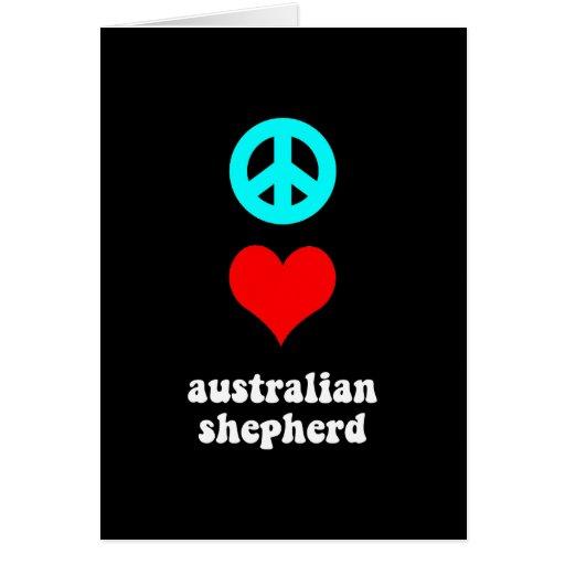 Pastor del australiano del amor de la paz tarjetón