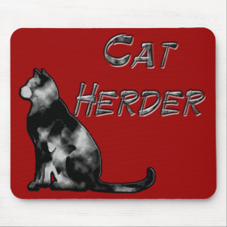 Pastor del gato alfombrillas de raton