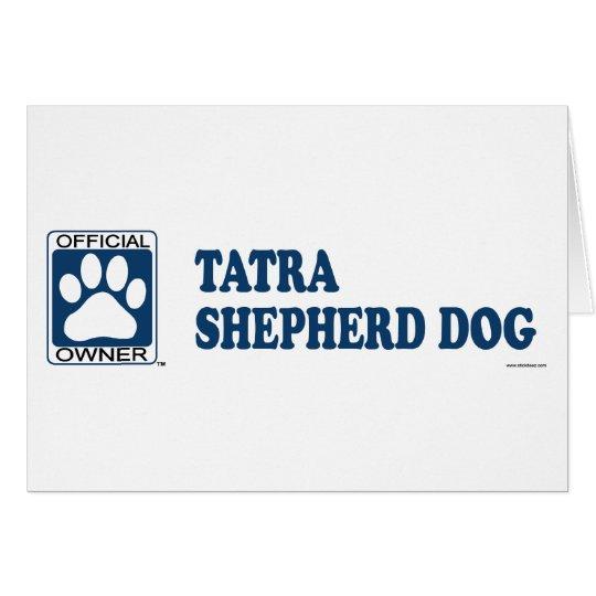 PASTOR DOG_Blue de TATRA Tarjeta De Felicitación