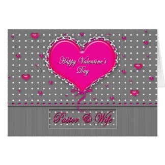 Pastor/esposa del el día de San Valentín - Tarjeta De Felicitación