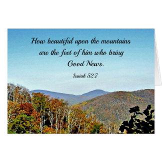 Pastor, God Bless You! Isaiah 52:7 Card