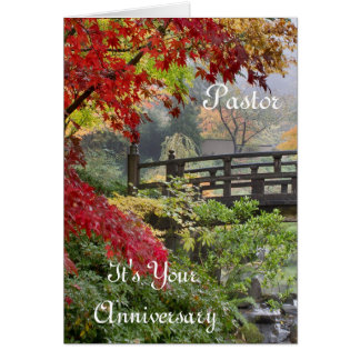 Pastor It's Your Anniversary Card