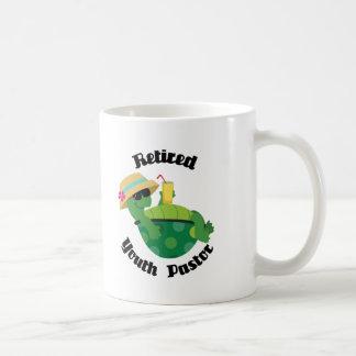 Pastor jubilado de la juventud (tortuga) taza clásica