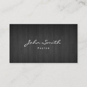 Pastor business cards zazzle pastor minister classy dark wood church business card colourmoves