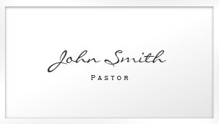 Minister business cards zazzle pastor minister classy white border business card colourmoves