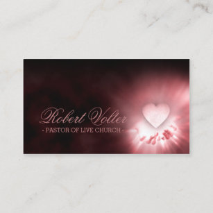 Pastor business cards zazzle pastor of live church heart in the hands card colourmoves