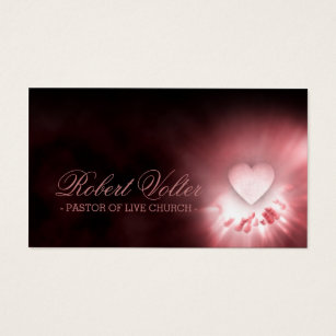Pastor business cards templates zazzle pastor of live church heart in the hands card colourmoves