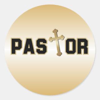 Pastor Pegatina Redonda
