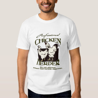 Pastor profesional del pollo camisas