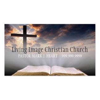 Pastor religioso de la religión del cristianismo tarjetas de visita