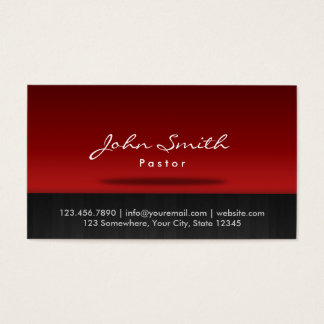 Pastor Stylish Red Stage Business Card