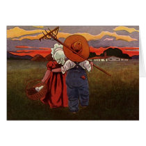 Pastoral Home Rural Farm Ranch Valentine's Cards