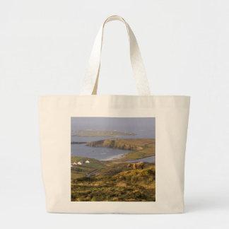 Pastoral Irish Coast Large Tote Bag